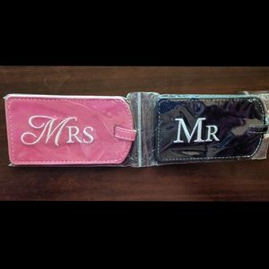 Mr. and Mrs. Luggage tags NWT